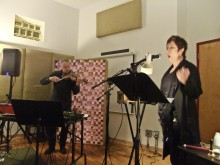 Shawn Decker and Lynn Book performing &quot;The Phaedra Escapes&quot; at the Experimental Sound Studio in Chicago.
